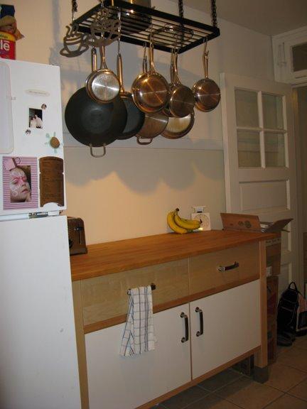 Ikea hanging pot rack $20