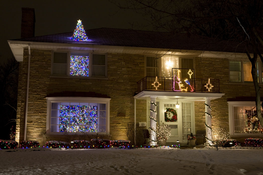 Christmas Decorations Tree Through Roof : Christmas lights extravaganza remodern ranch